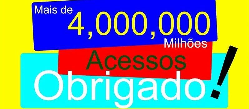 Resultado de imagem para mais de 4 milhoes de acessos ao blog. obrigado